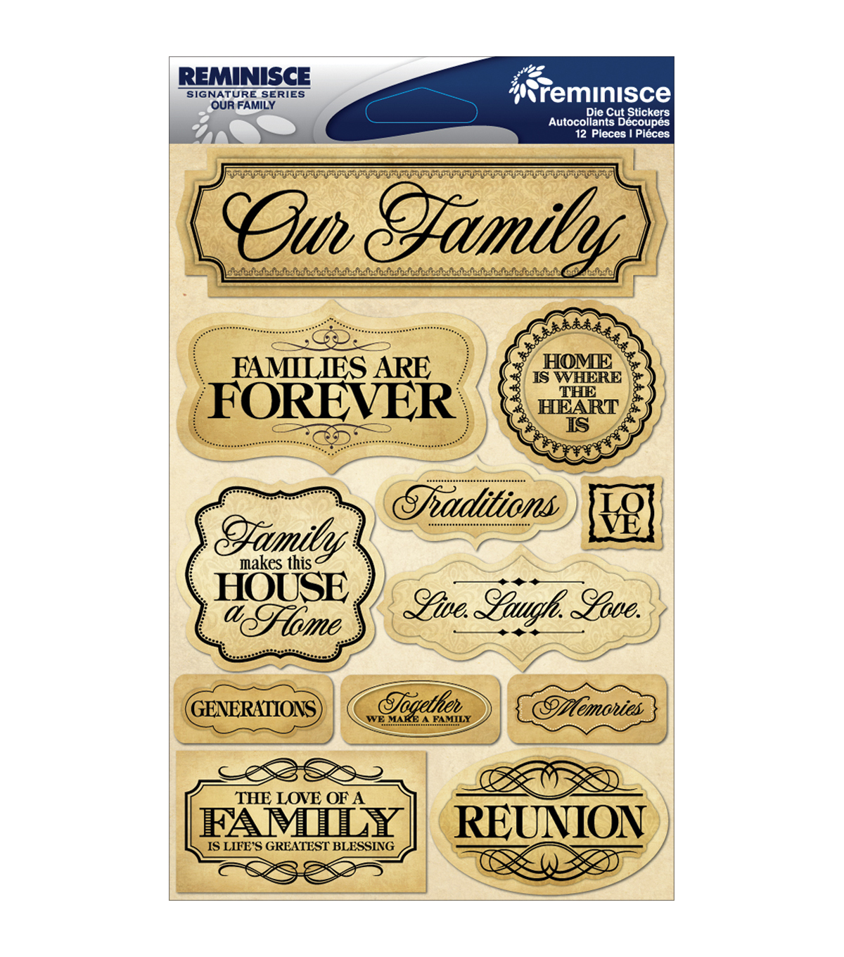 Reminisce Signature Dimensional Stickers Family