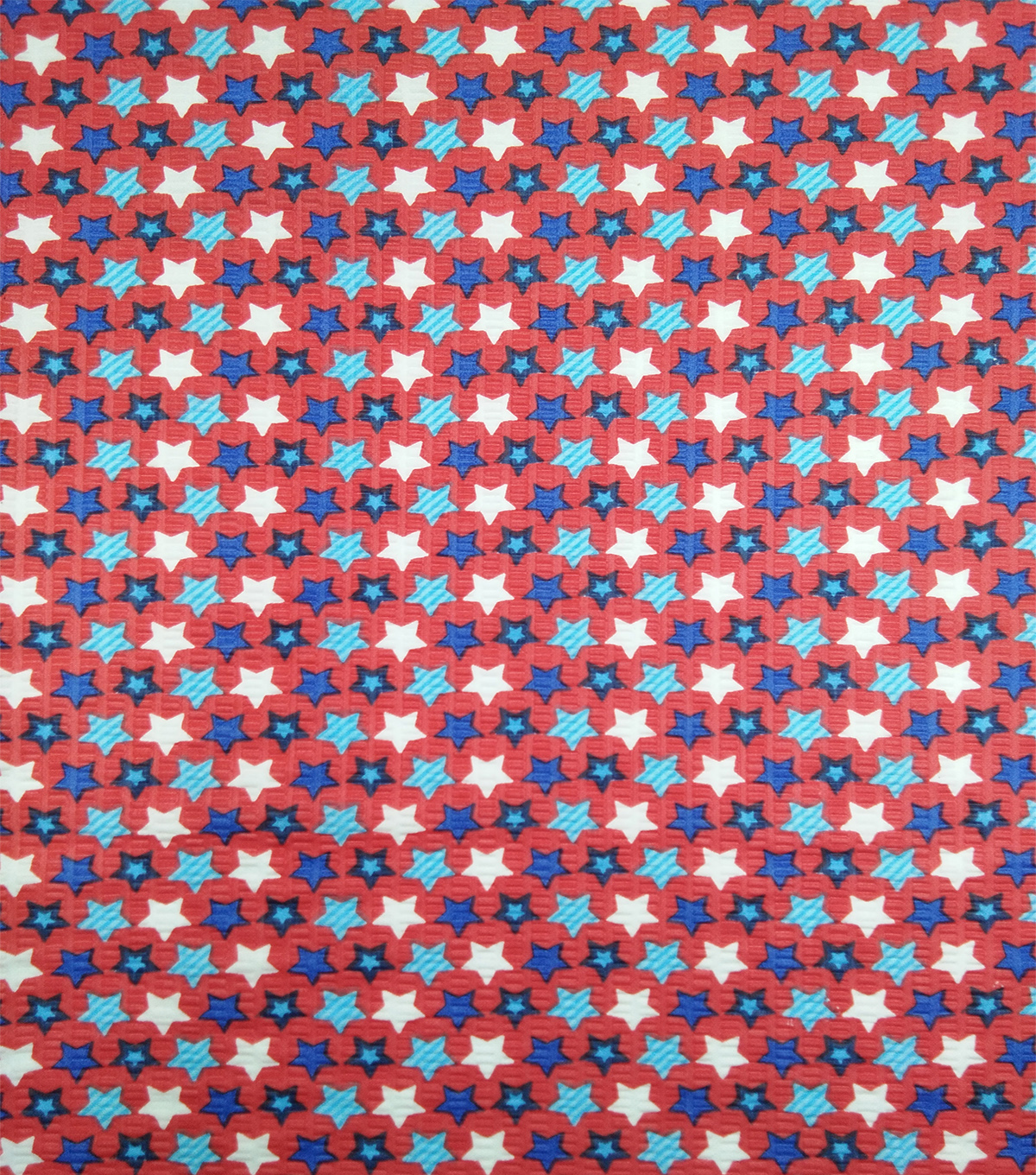Doodles Textured Fabric 43\u0027\u0027-Red, White & Blue Star Spangled