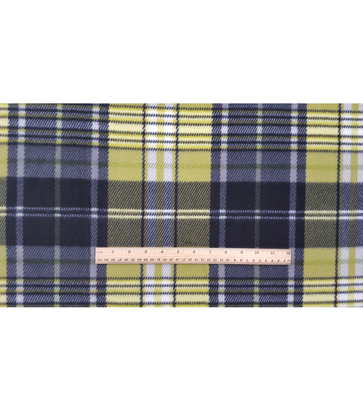 Anti-Pill Fleece Fabric 59\u0022-Dino Green Plaid