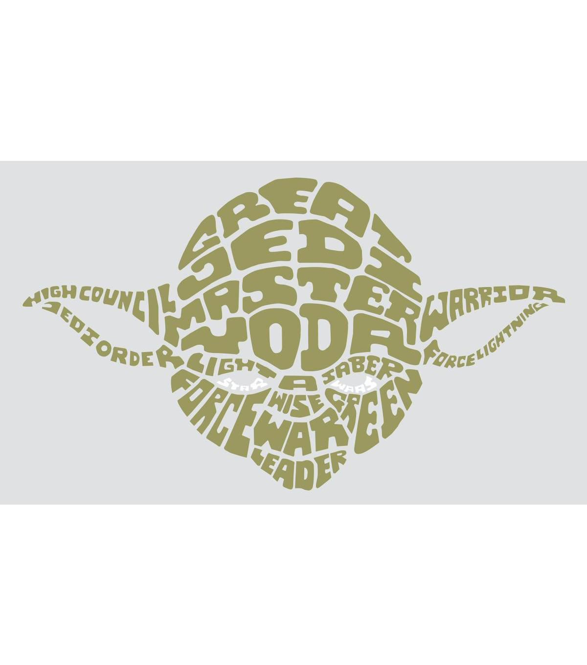 York Wallcoverings Wall Decals-Star Wars Typographic Yoda