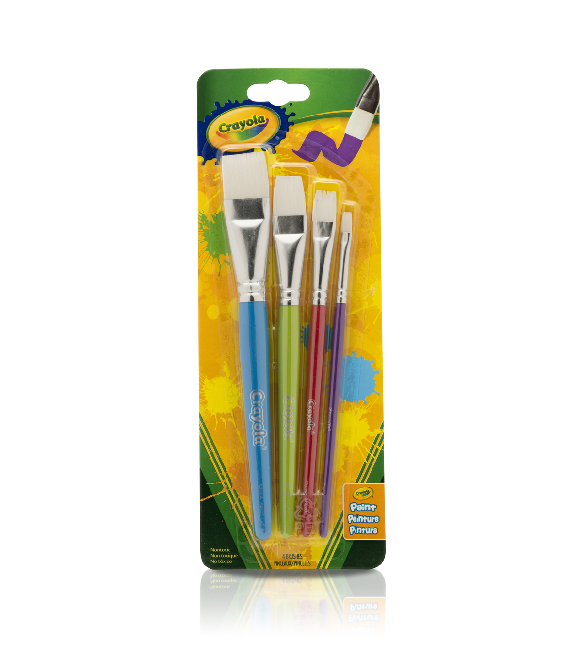 Crayola Big Paint Brushes 4/Pkg-Flat
