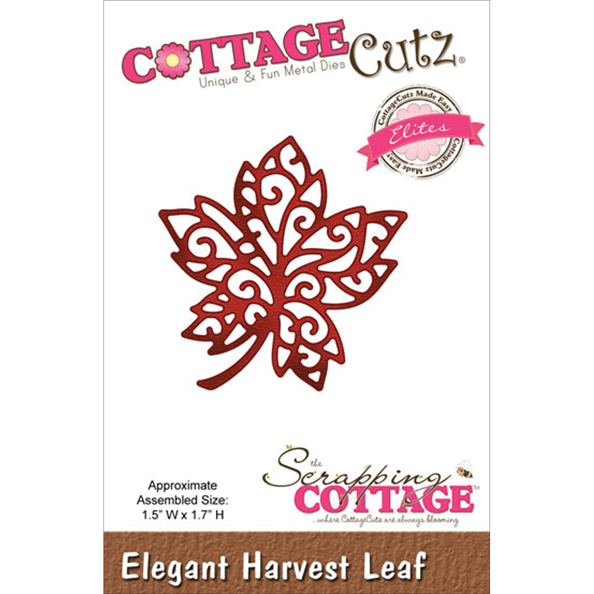 CottageCutz Elites Die Elegant Harvest Leaf