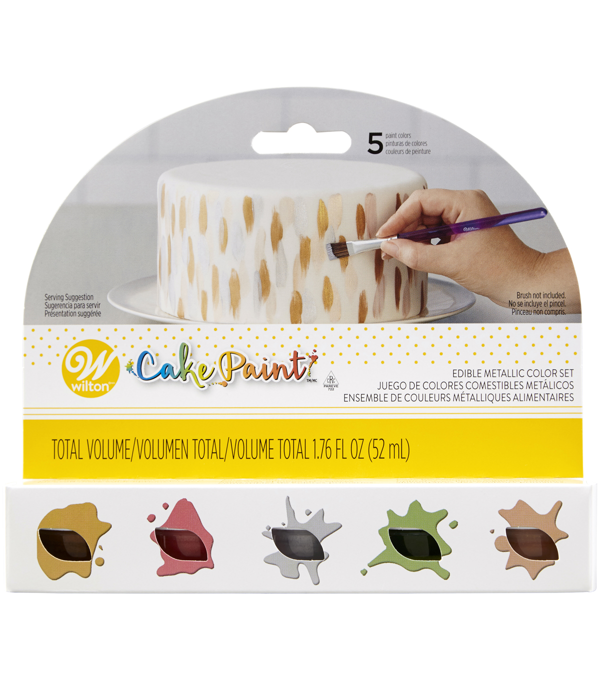 Wilton 5 pk Edible Cake Paints-Metallic