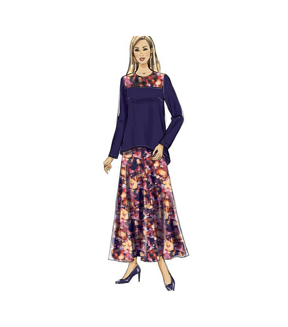 Butterick Pattern B6636 Misses\u0027 Top, Tunic, Skirt & Scarf-Size 14-22