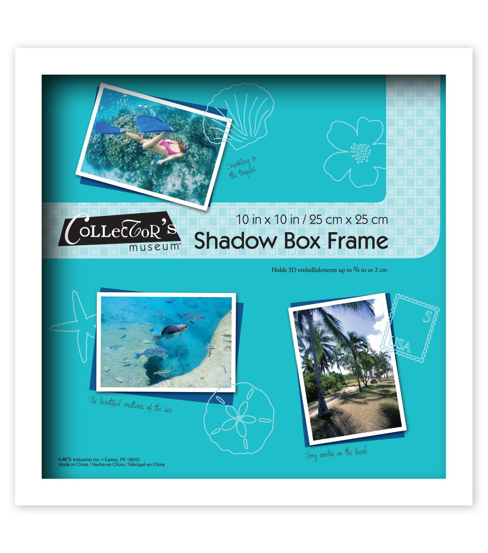 Collectors Museum White Shadow Box Frame 10x10 Joann