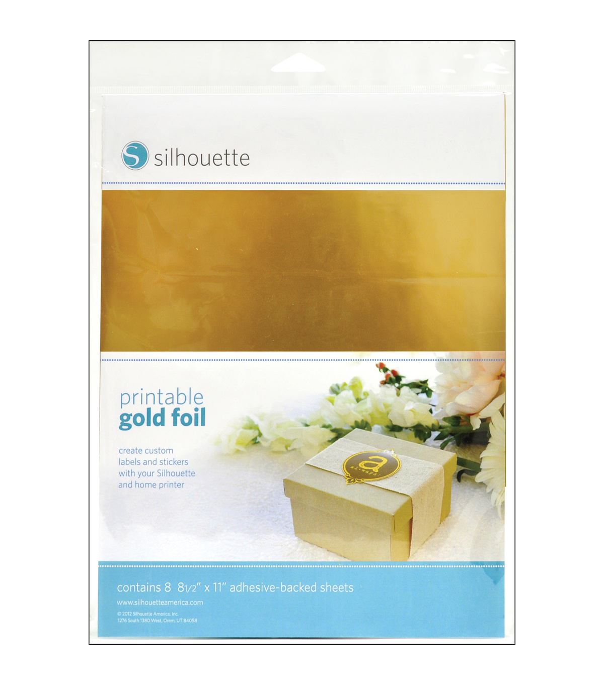 photograph about Printable Gold Paper named Silhouette Printable Adhesive Foil 8.5\