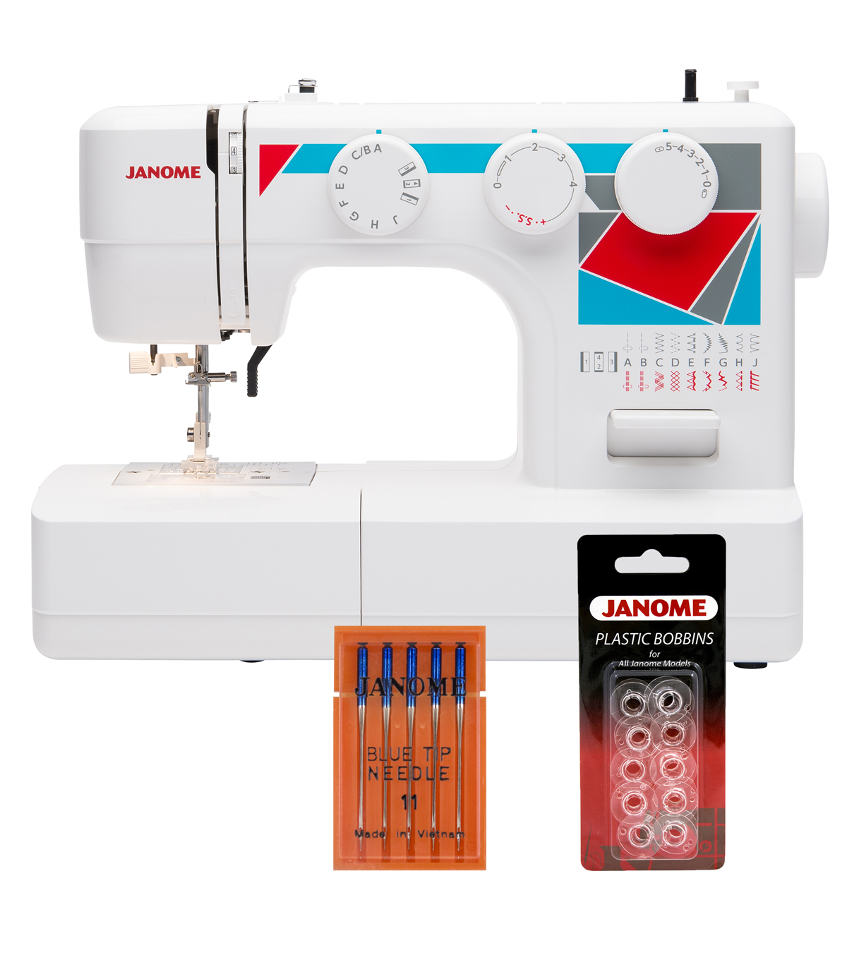 Janome MOD-19 Sewing Machine with Bonus Accessories