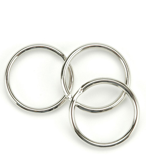 Nickel Split Key Rings-1\u0022 10/Pkg