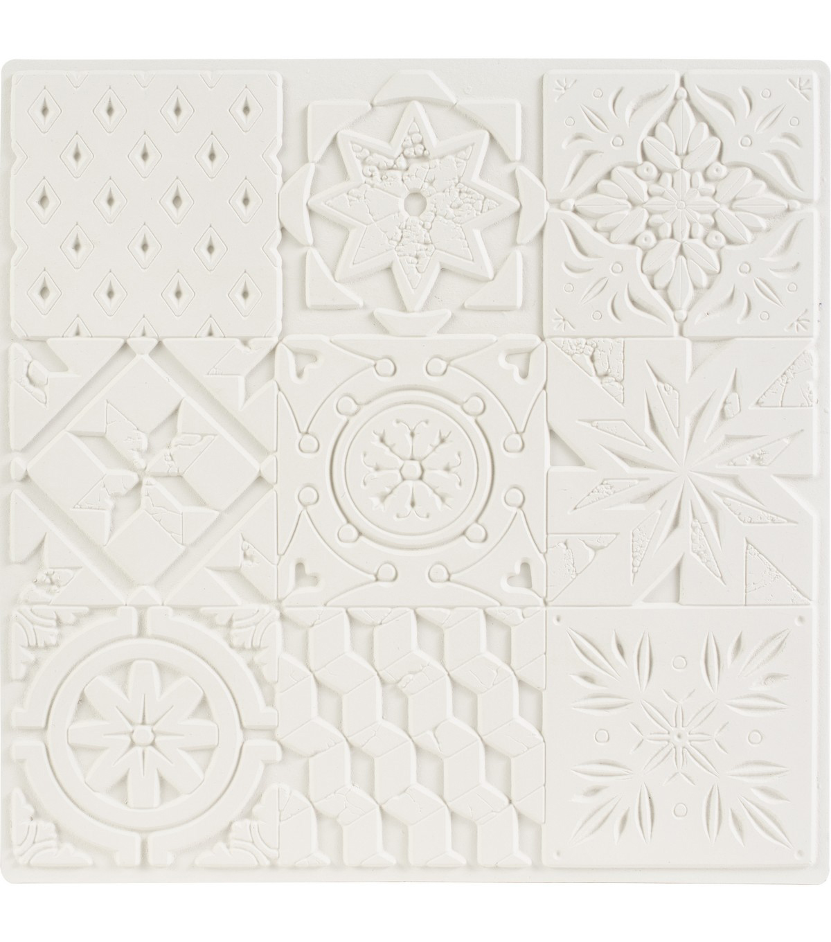 Carabelle Studio Art Printing Square Rubber Texture Plate-Cement Tiles