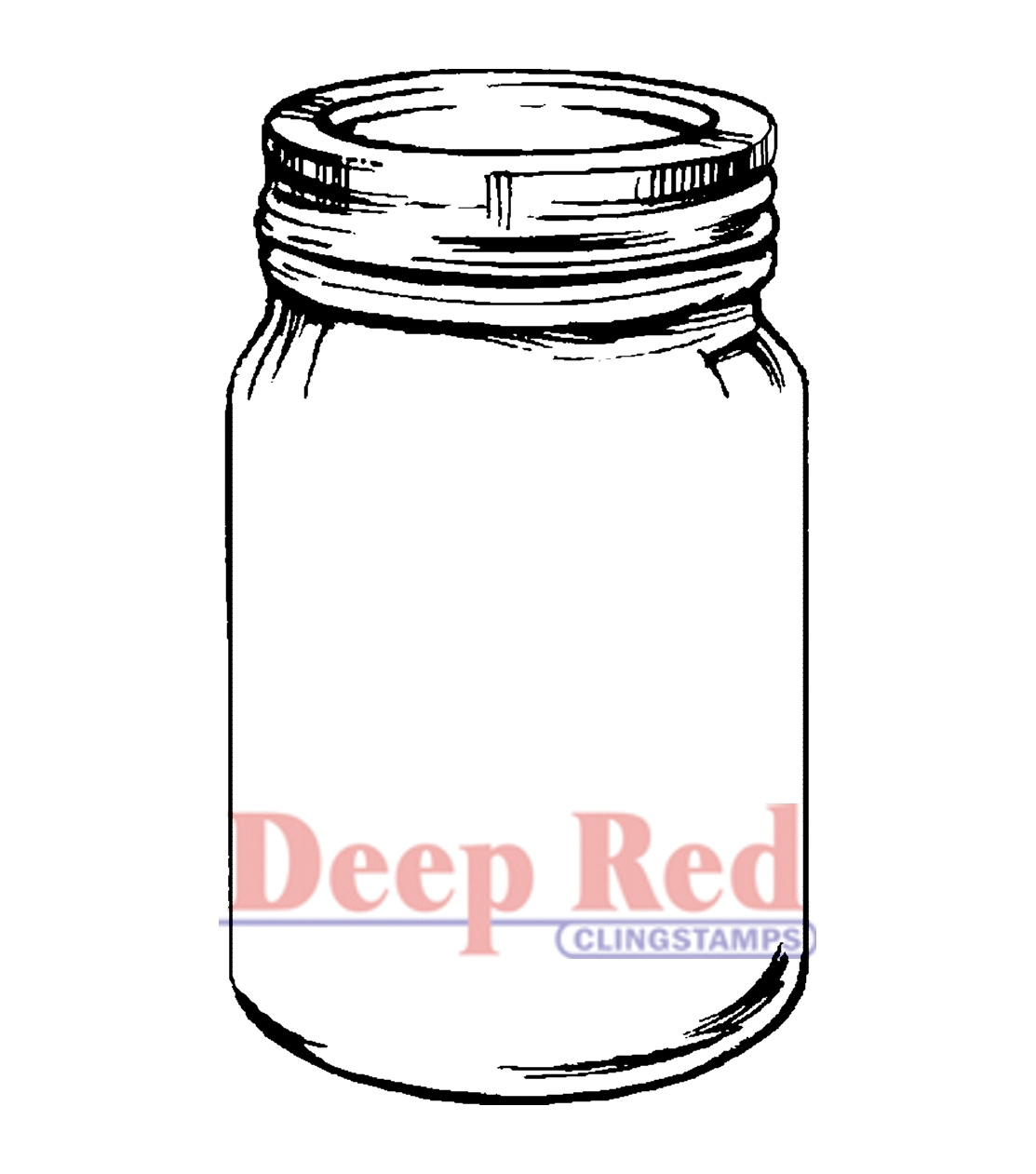 Deep Red stamps Cling Stamp Mason Jar