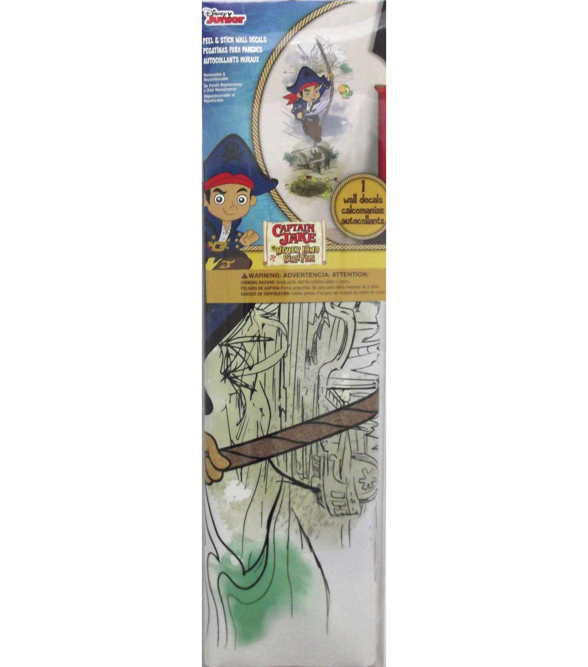 York Wallcoverings Peel & Stick Wall Decals-Captain Jake & The Pirates