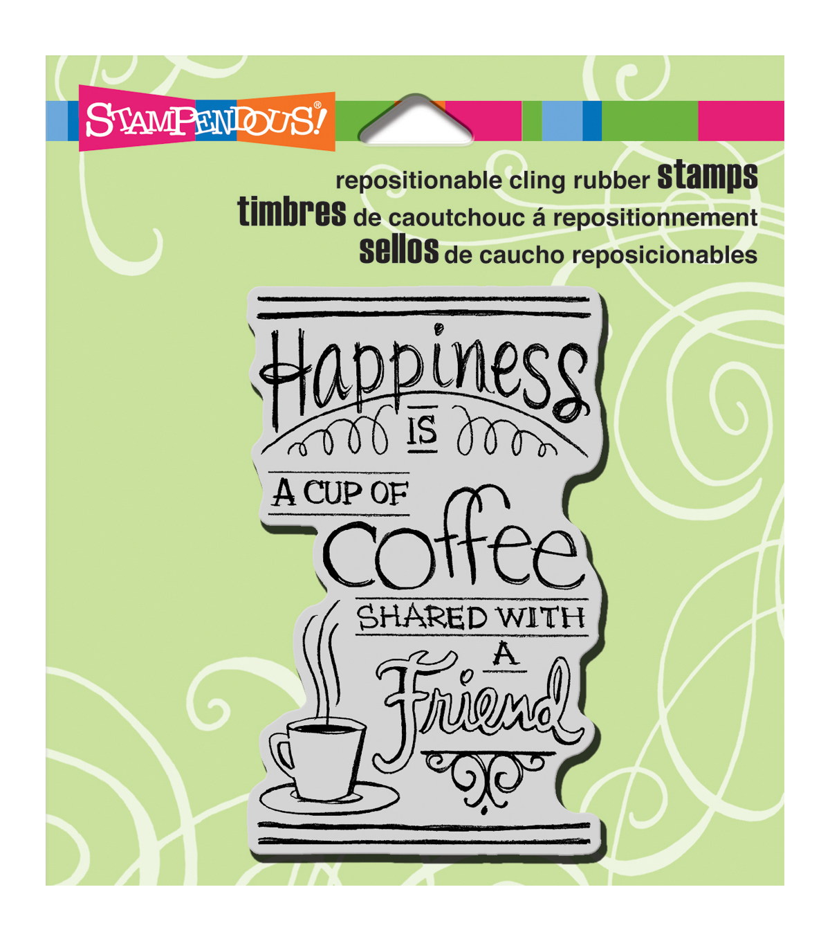 Stampendous Cling Rubber Stamp Shared Coffee