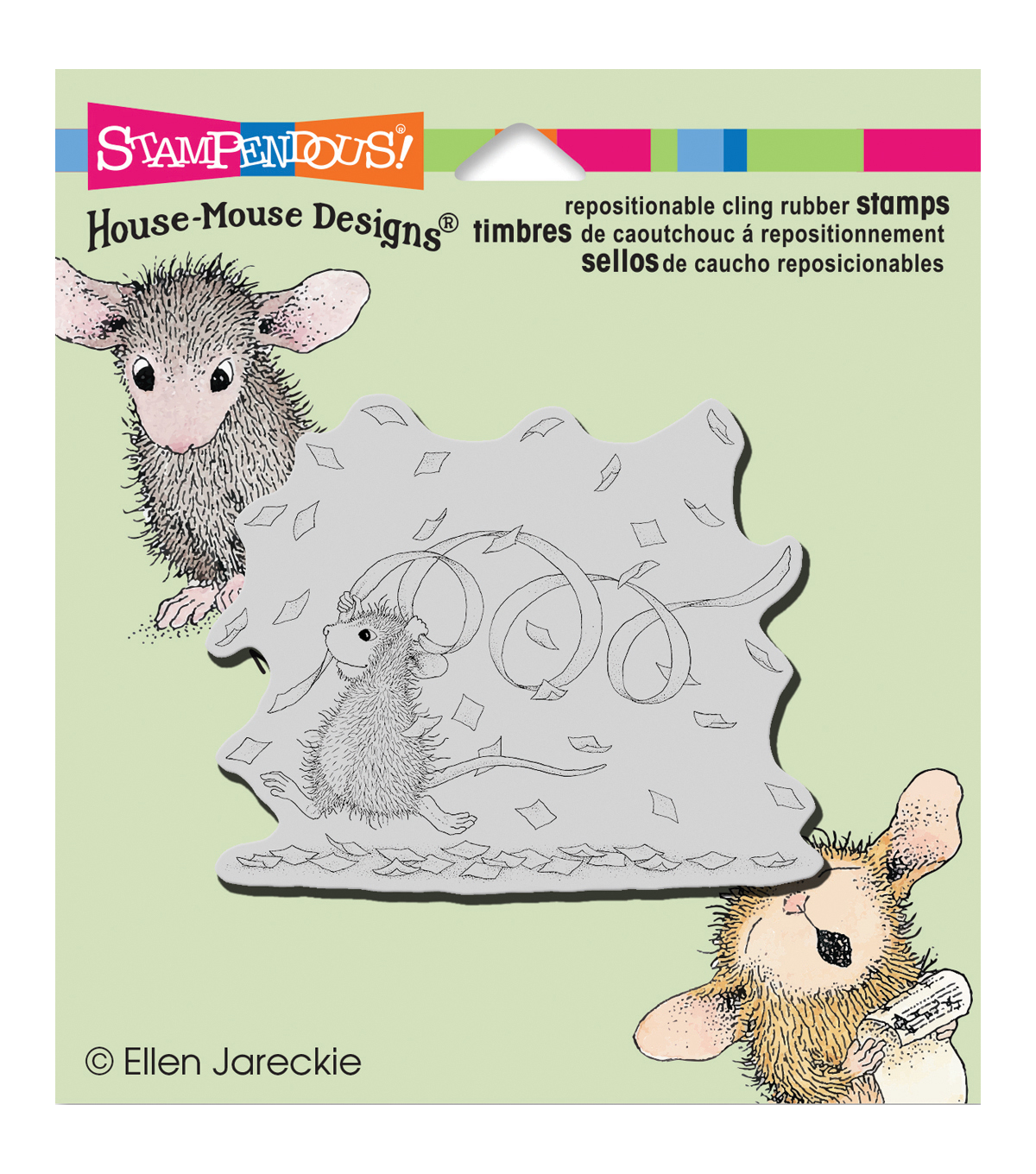 Stampendous House Mouse Cling Stamp-Confetti Fun