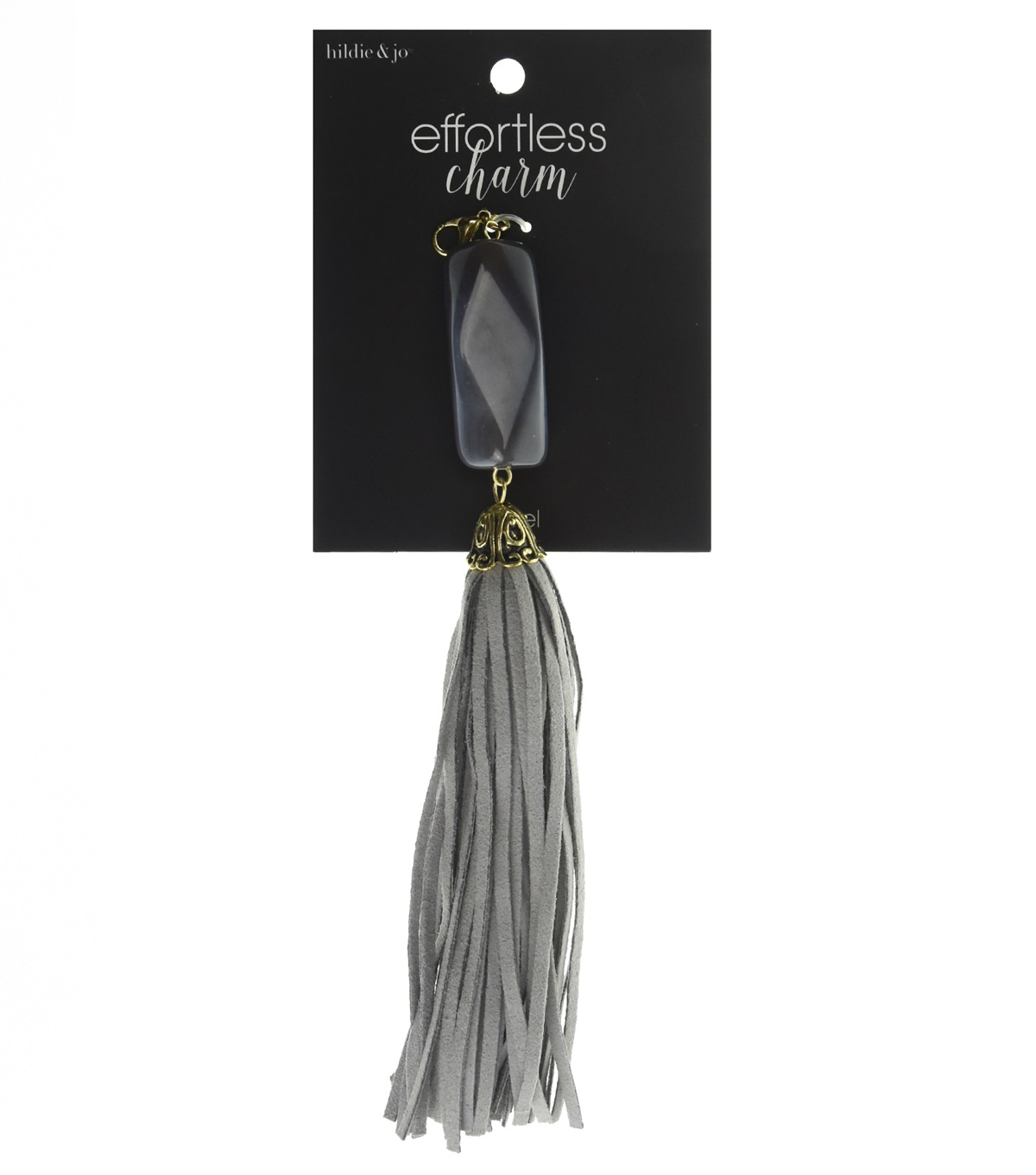 hildie & jo Effortless Charm Stone Tassel-Gray