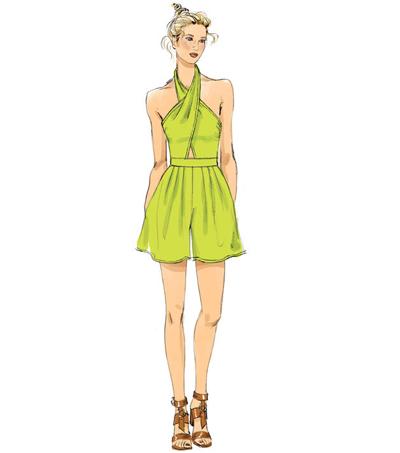 d315fda25770 Vogue Pattern V9259 Misses  Halter Romper   Jumpsuit-Size 14-16-18 ...