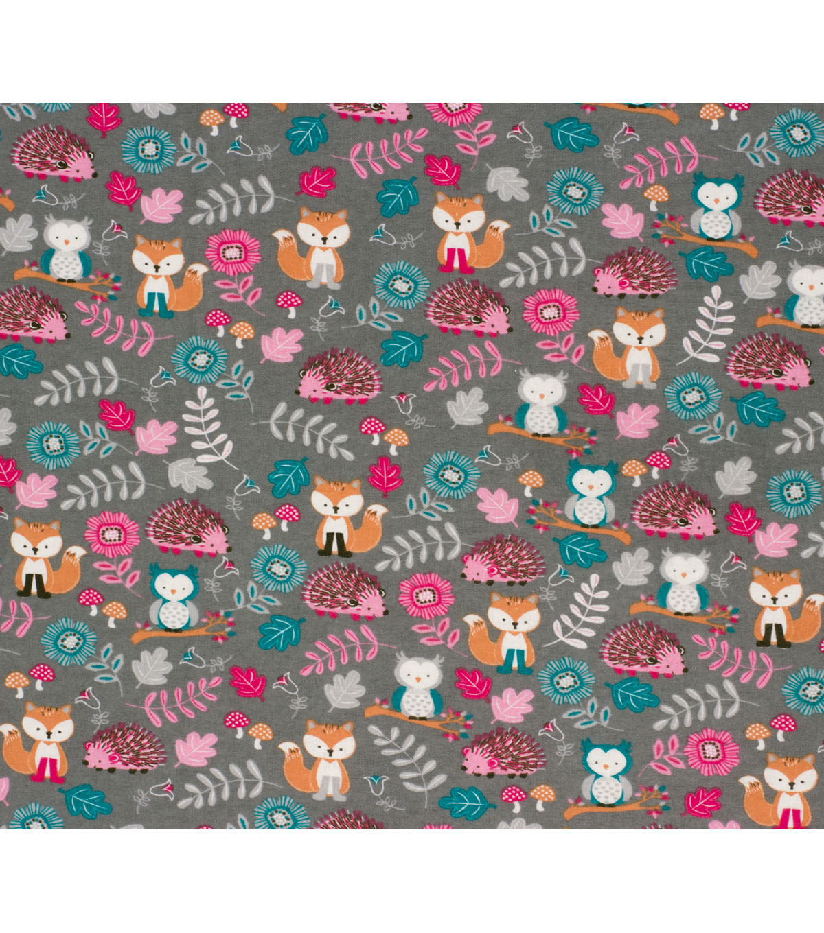 Super Snuggle Flannel Fabric-Floral Animals