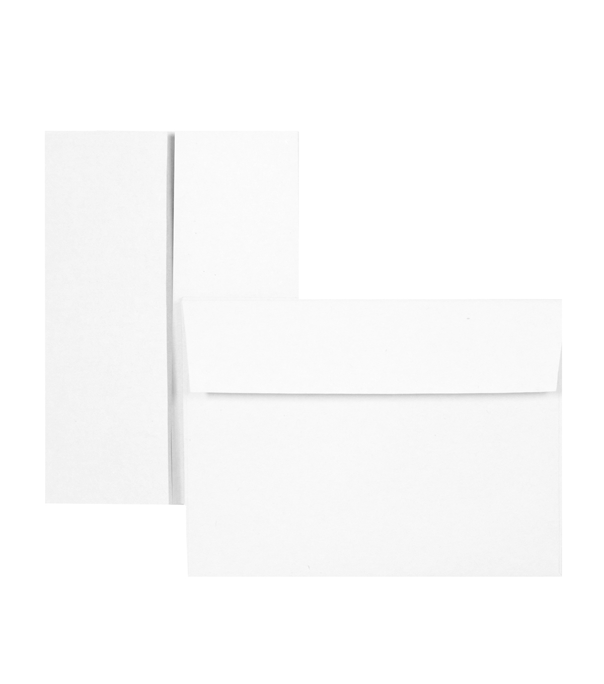 Park Lane 6 pk A7 Gabel Cards & Envelopes-White