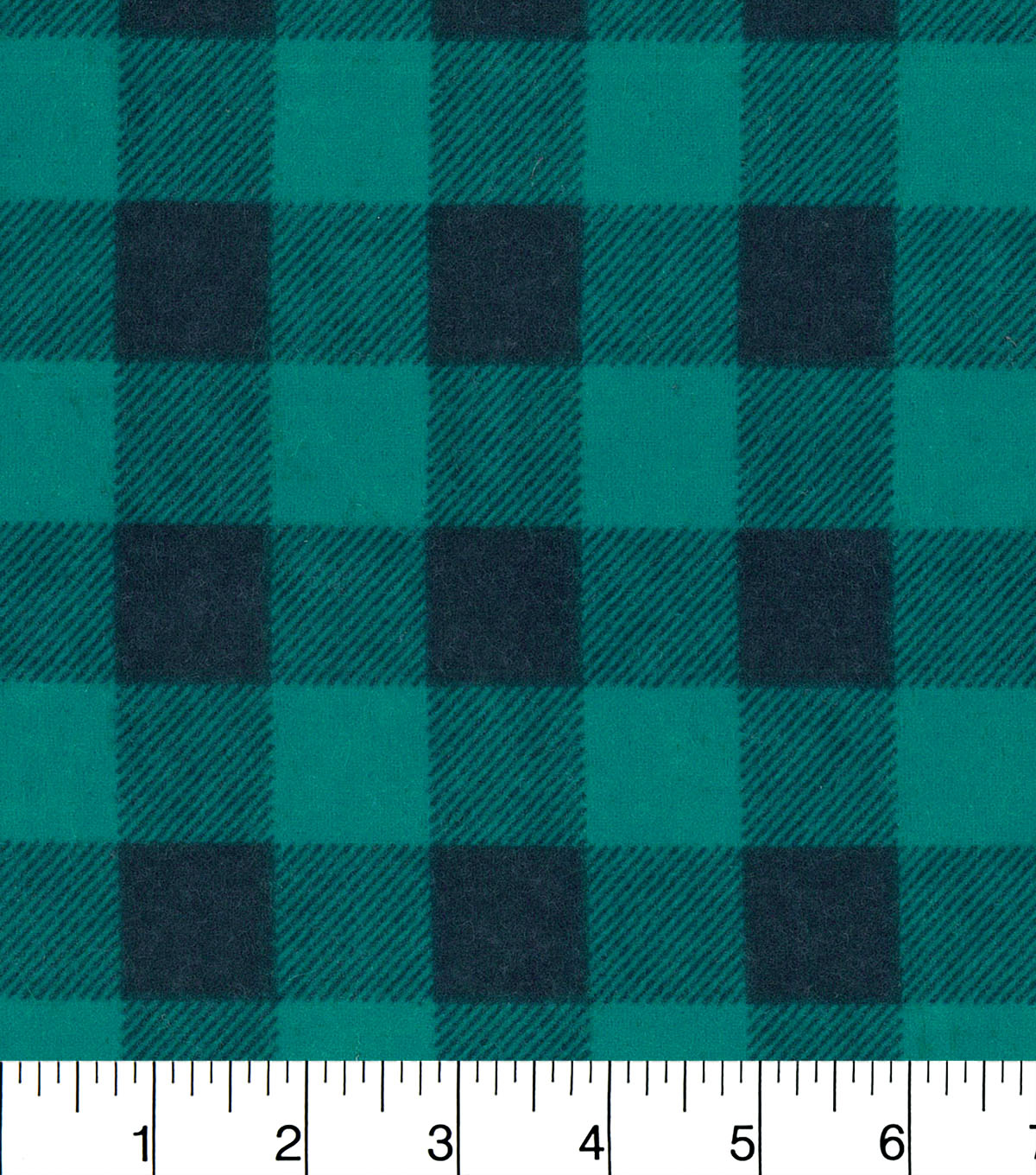Snuggle Flannel Fabric -Teal Buffalo Check