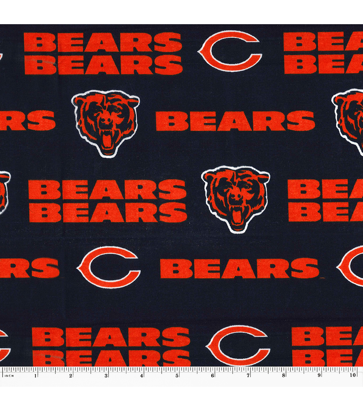 new arrival 3668e a337d Chicago Bears Cotton Fabric -Mascot Logo