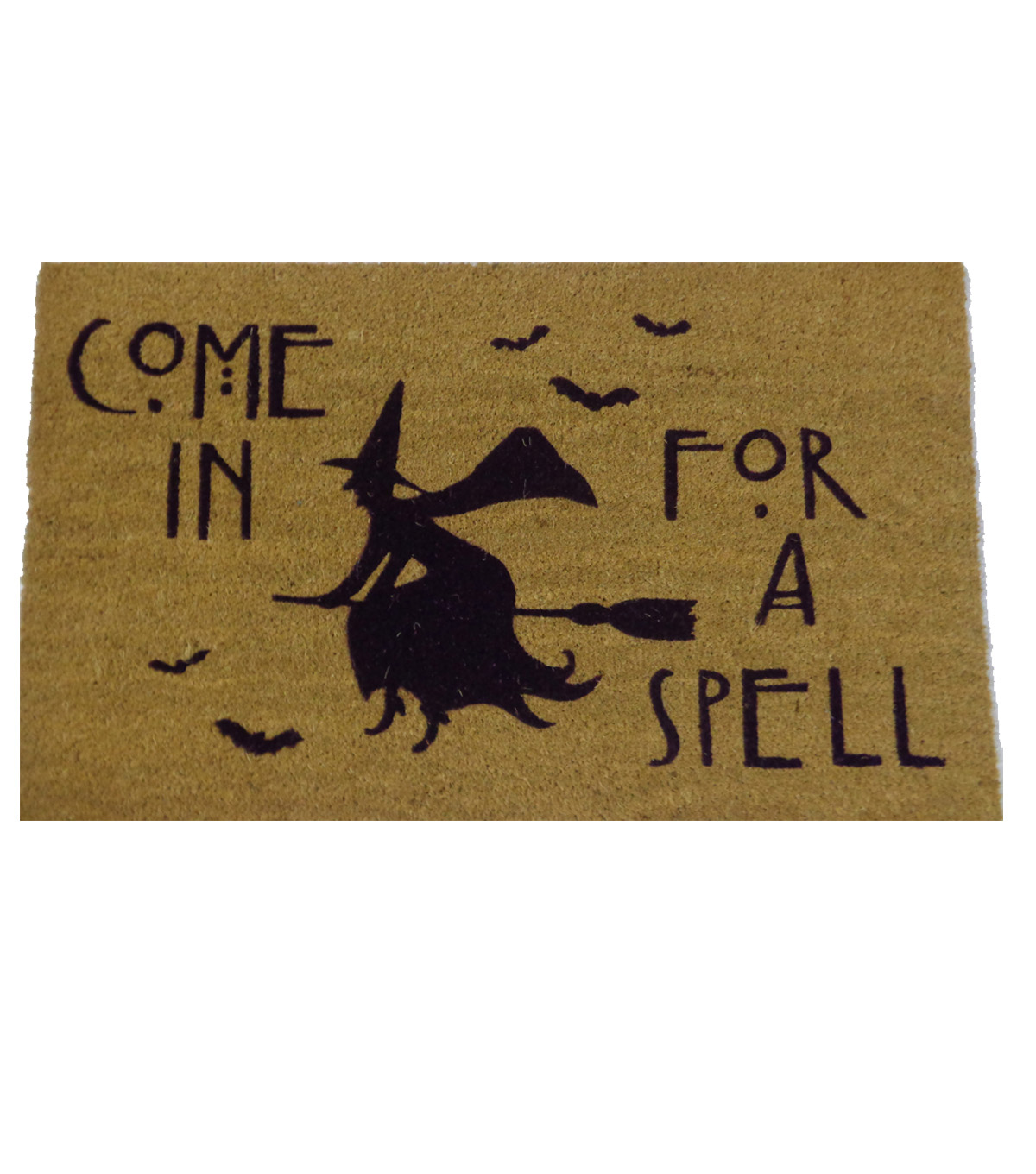 Maker\u0027s Halloween Coir Mat-Come in for a Spell