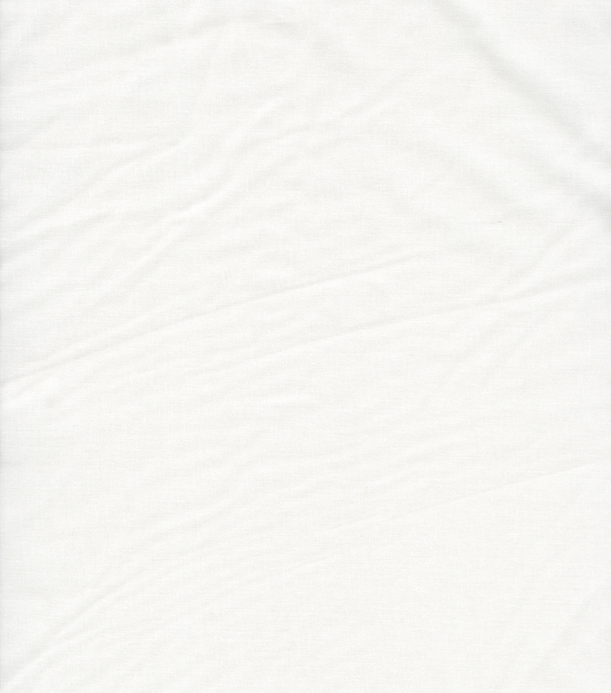 Solid Cotton Fabric-, White