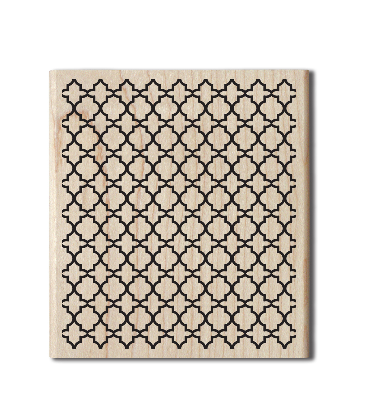 Jillibean Soup Wood Stamp-Lattice Background