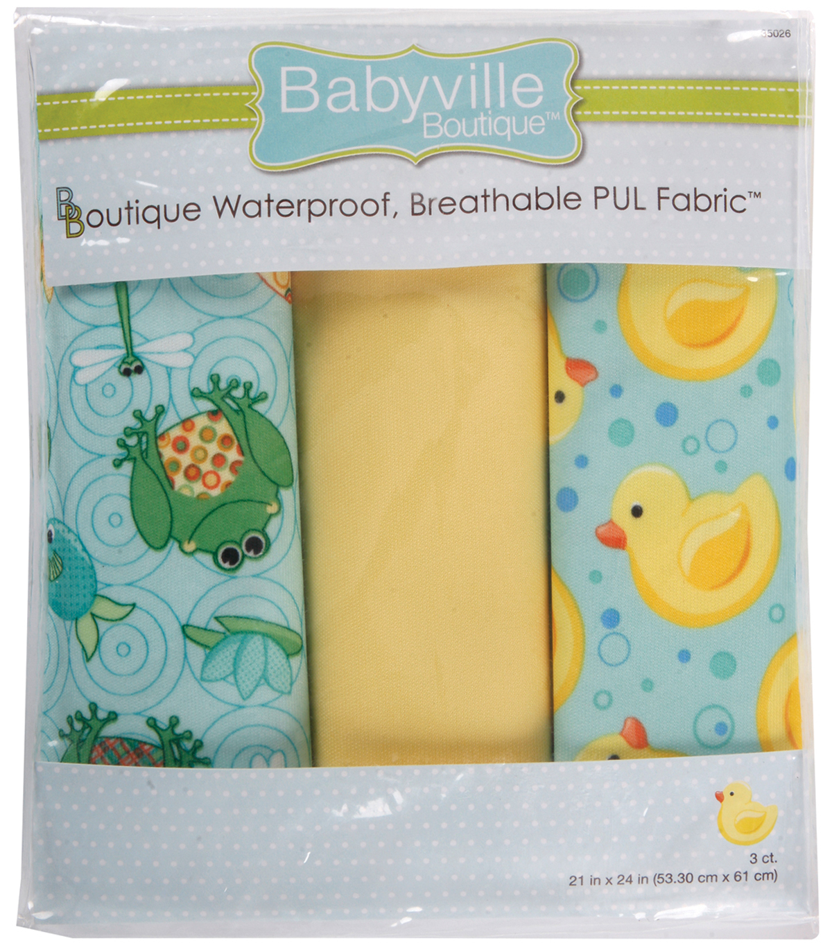 Babyville Playful Waterproof Diaper Fabric Pond & Ducks