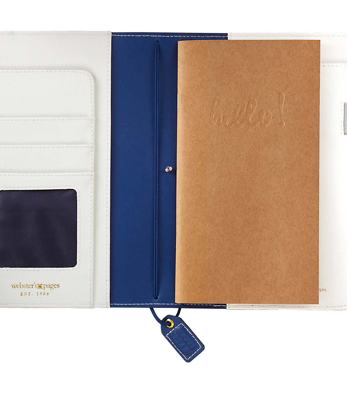 Faux Leather Travelers\u0027 Planner 5.7\u0022X8\u0022-Navy Floral
