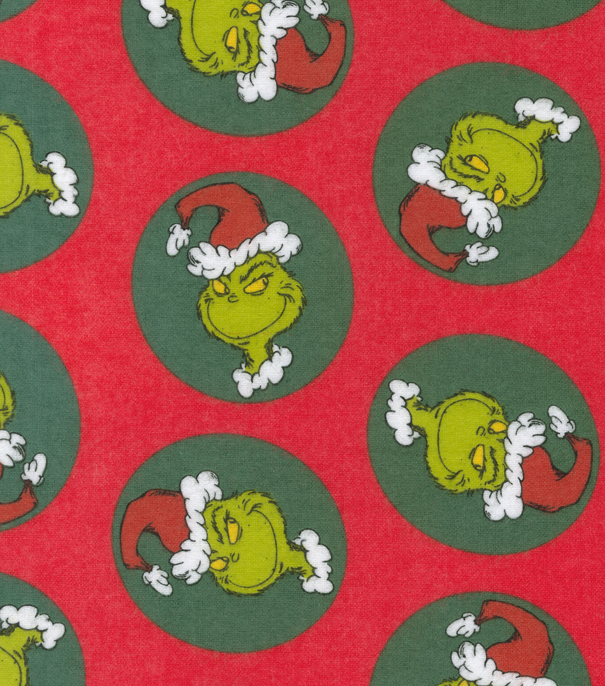 Christmas The Grinch Flannel Fabric-Tossed