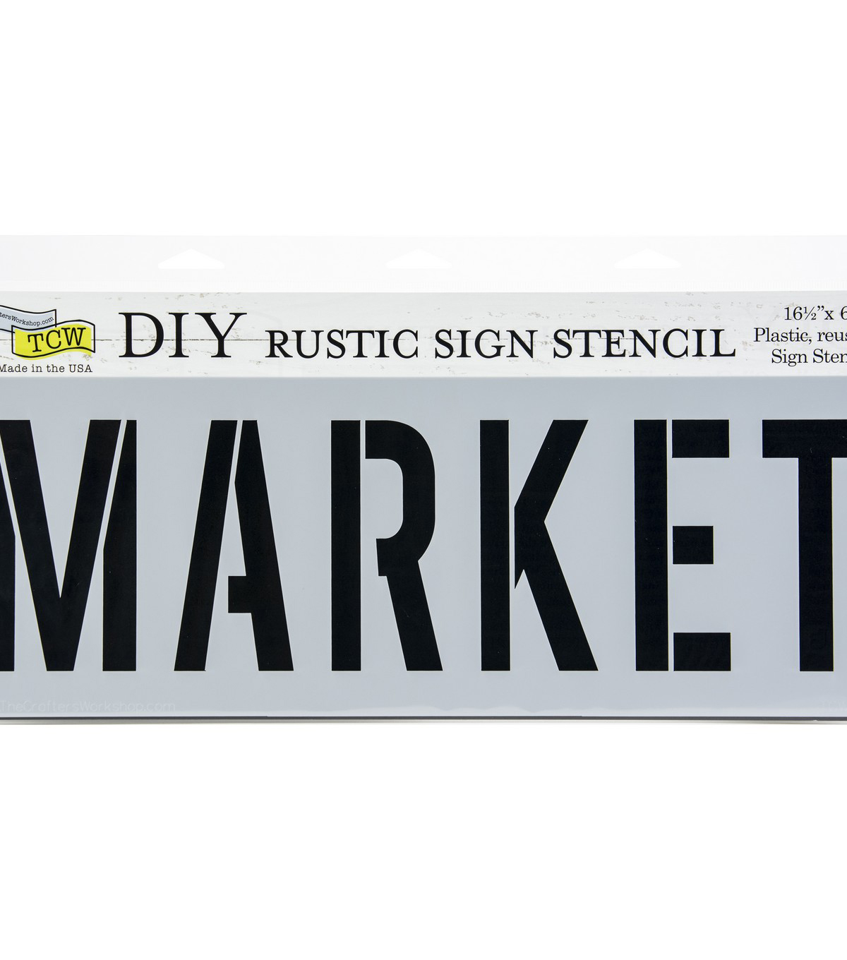 The Crafter\u0027s Workshop 16.5\u0027\u0027x6\u0027\u0027 DIY Rustic Sign Stencil-Market