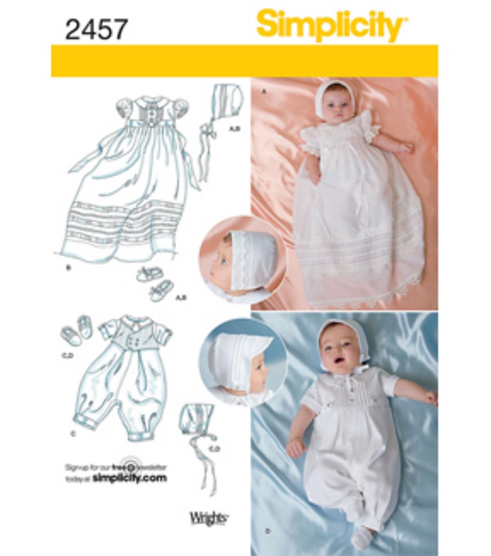 Simplicity Pattern 2457 Babies Special Occasion Xxs Xs S M Joann