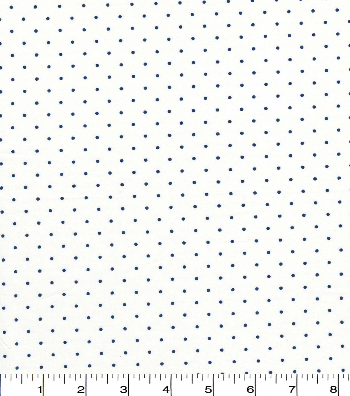 Quilter\u0027s Showcase Cotton Fabric -Navy Swiss Dots on White