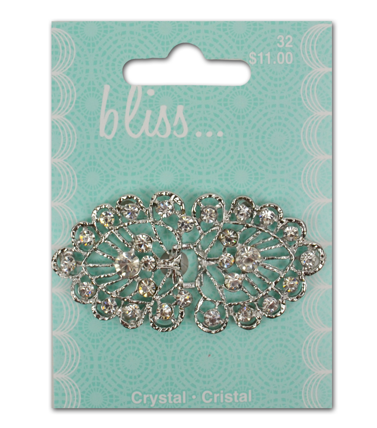 Bliss Crystal Fan Buckle