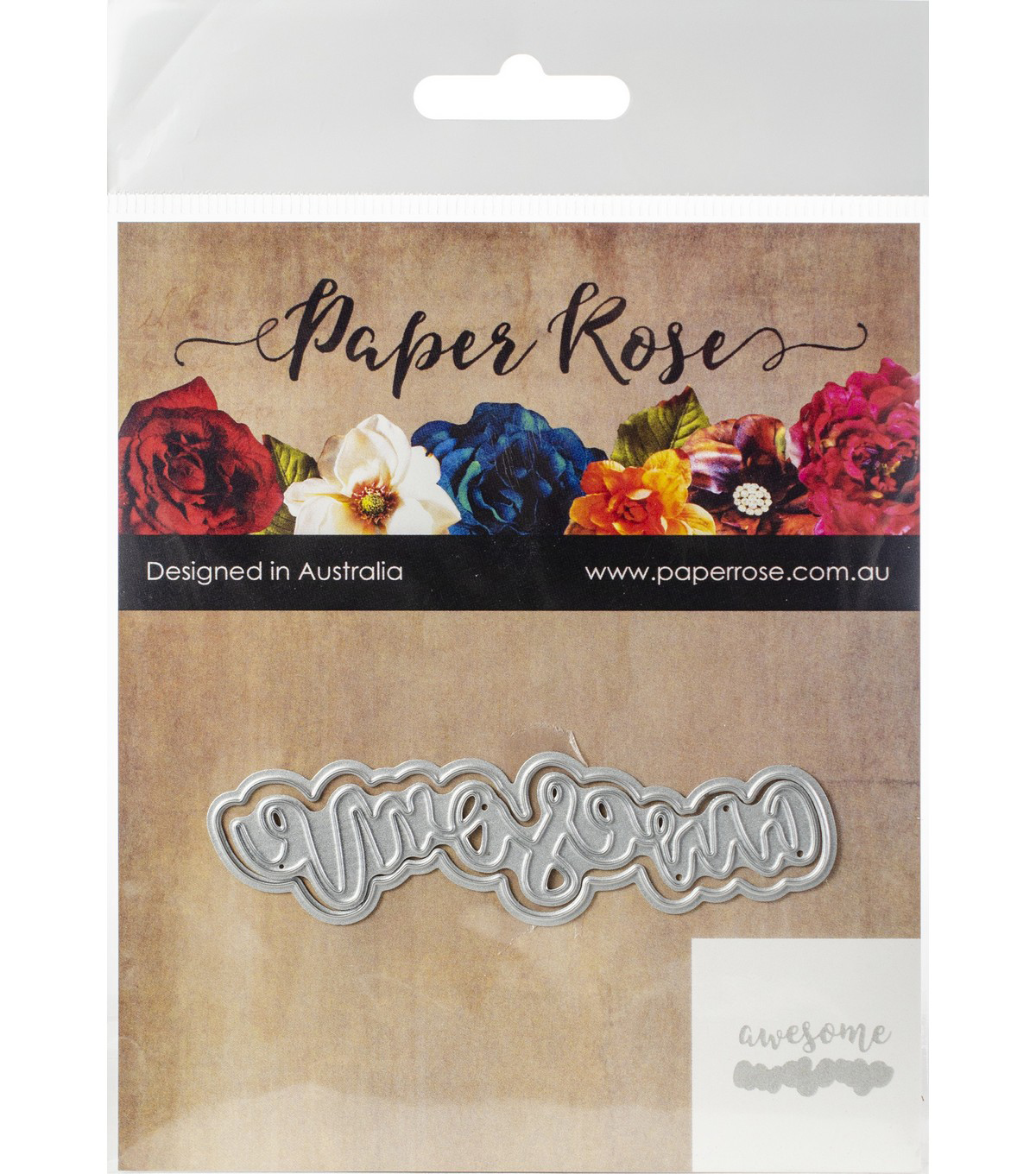 Paper Rose 2 pk Layered Metal Dies-Awesome