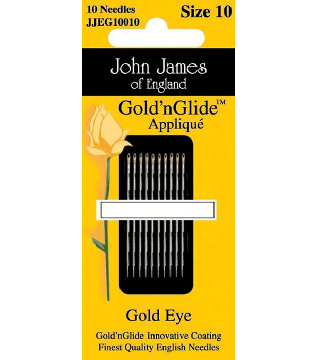 John James Gold\u0027n Glide Applique Needles
