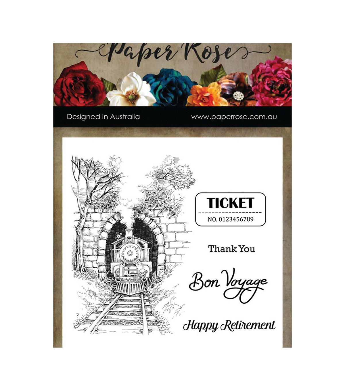 Paper Rose Clear Stamps 4\u0022X4\u0022-Through The Tunnel