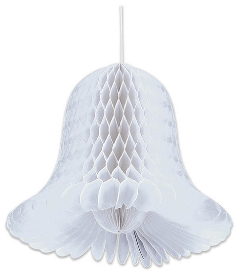 2pk 9\u0022 Honeycomb Bells-White