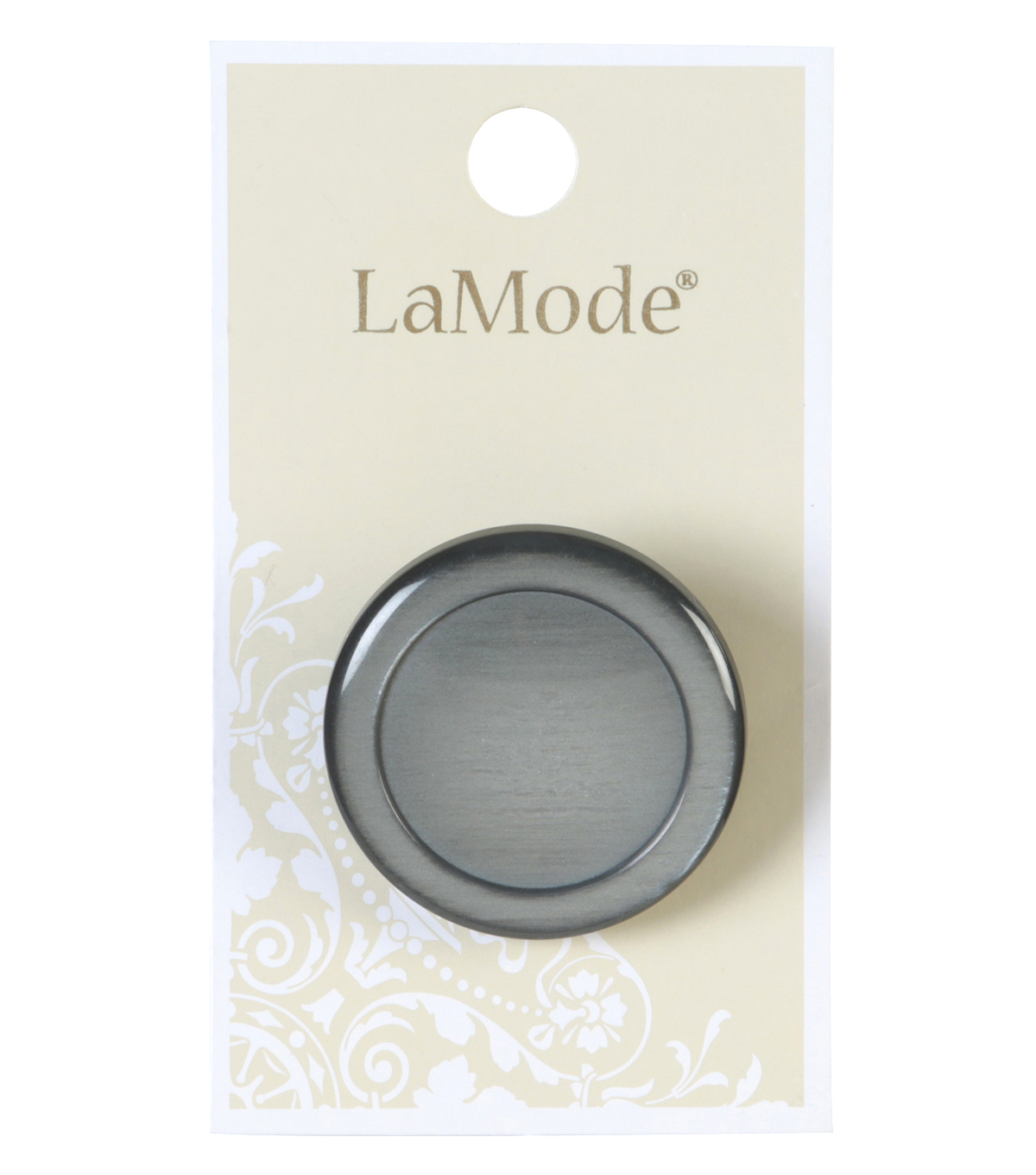 LaMode Black And Grey Shank Button