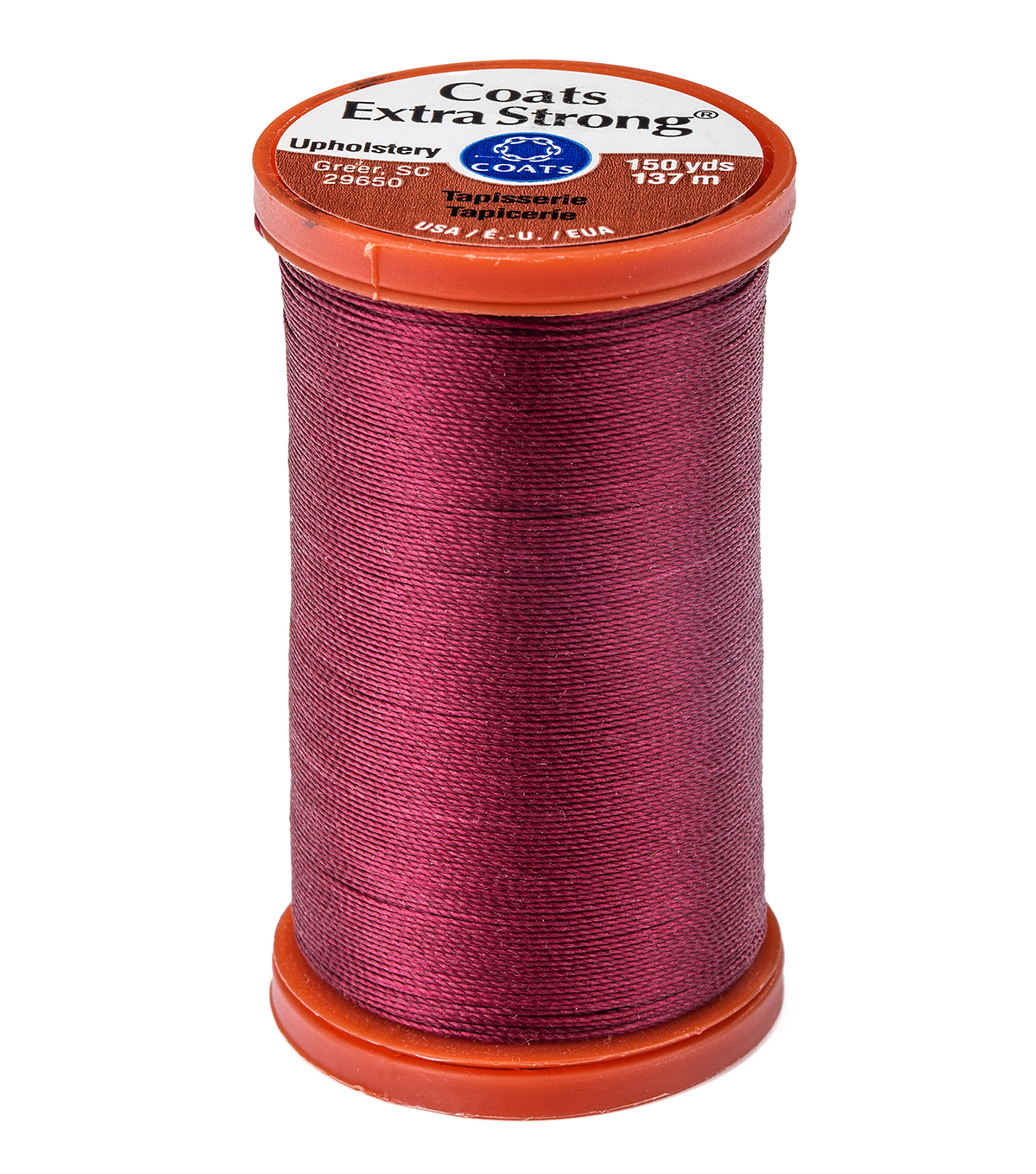 Coats & Clark Extra Strong & Upholstery Thread 150 yd , Bayberry Red