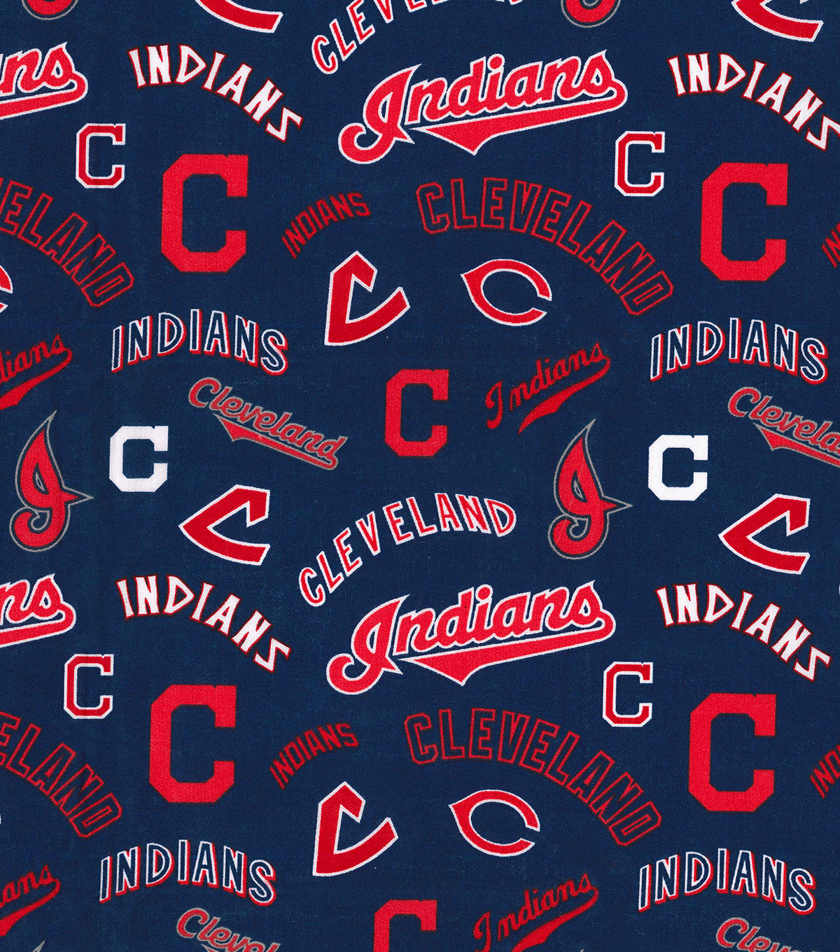 Cooperstown Cleveland Indians Cotton Fabric