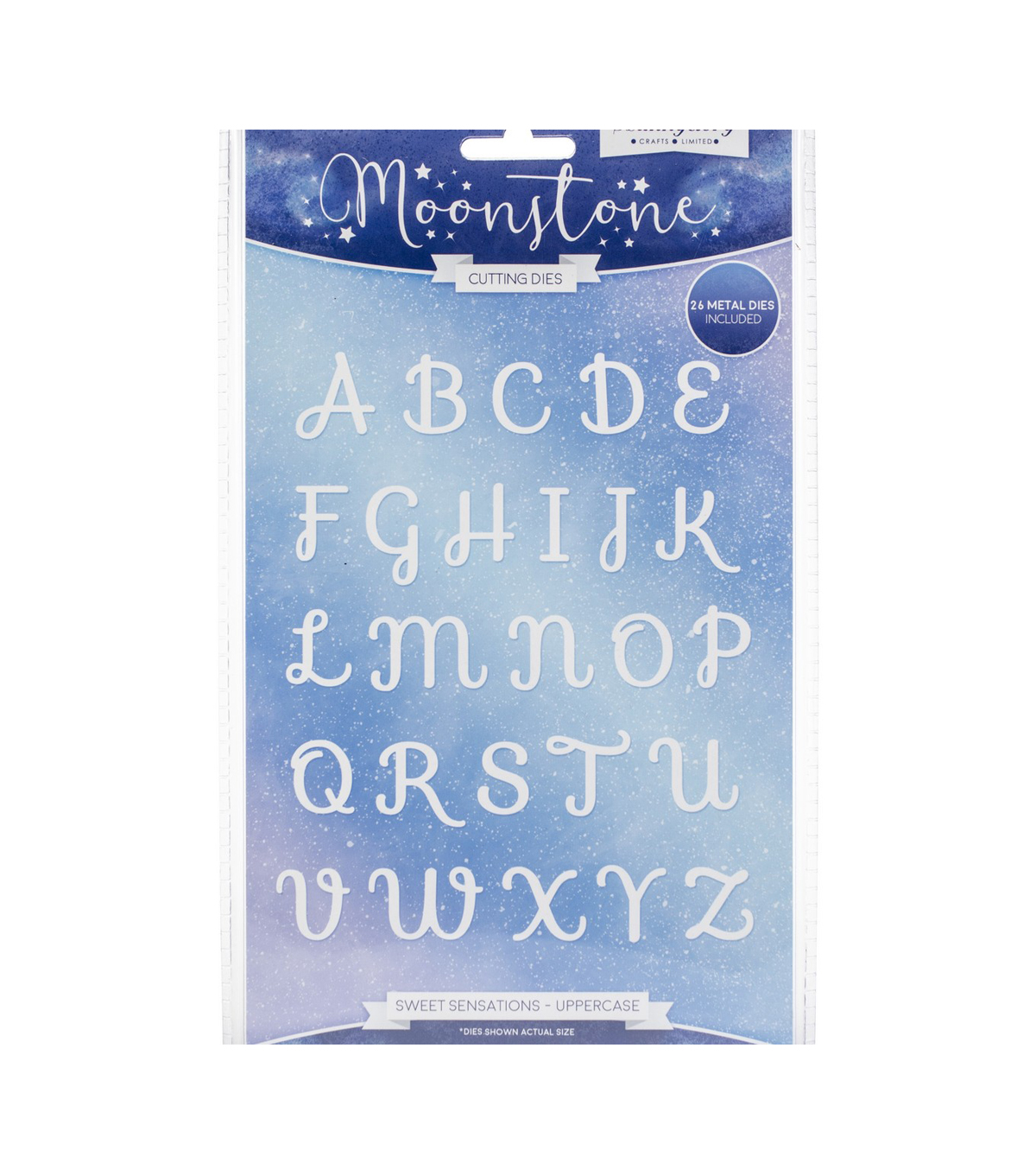 Hunkydory Crafts Moonstone Dies-Sweet Sensations Uppercase Alphabet