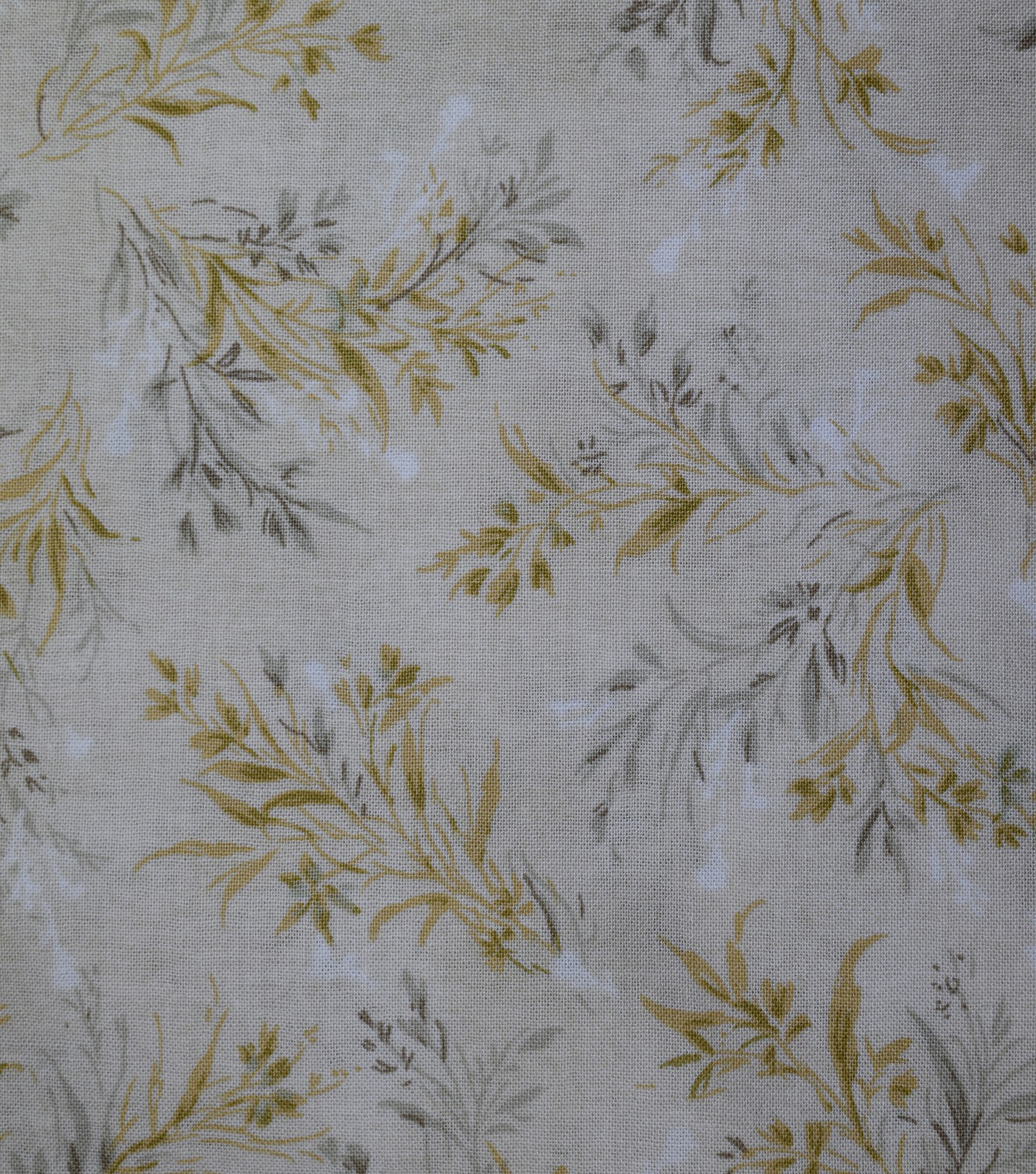 Premium Wide Cotton Fabric-Whispy Floral on Cream
