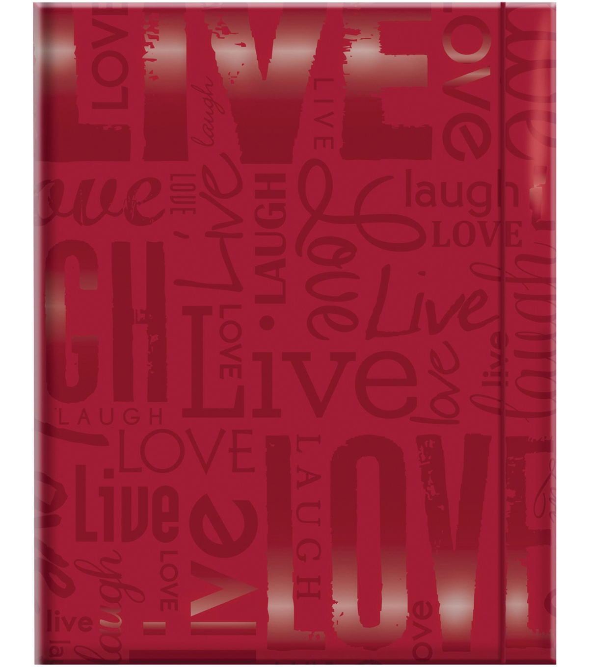 Embossed Gloss Expressions Photo Album 4.75\u0022X6.5\u0022-Live, Love & Laugh-Red
