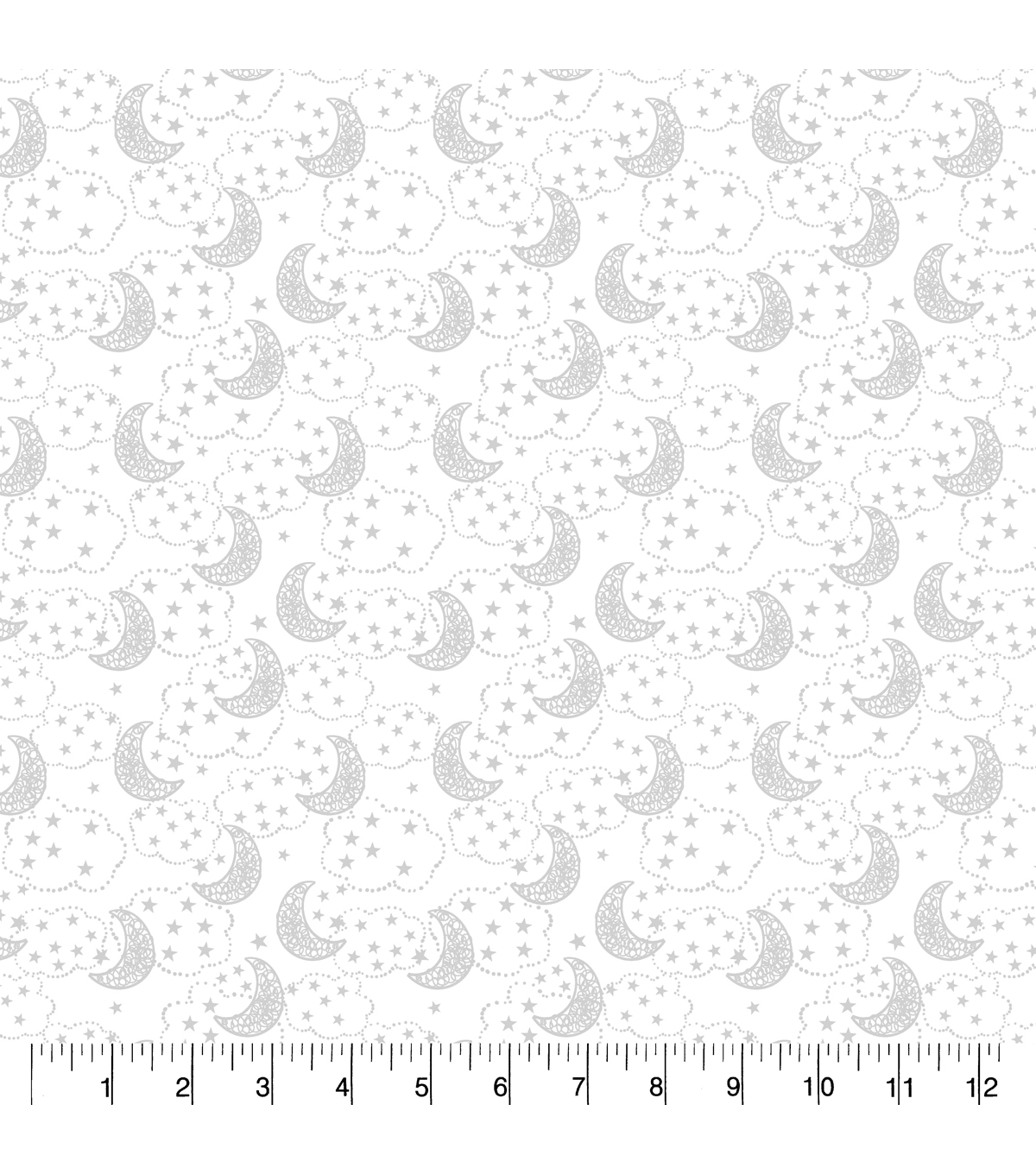 Nursery Flannel Fabric-Wood Gray Moons
