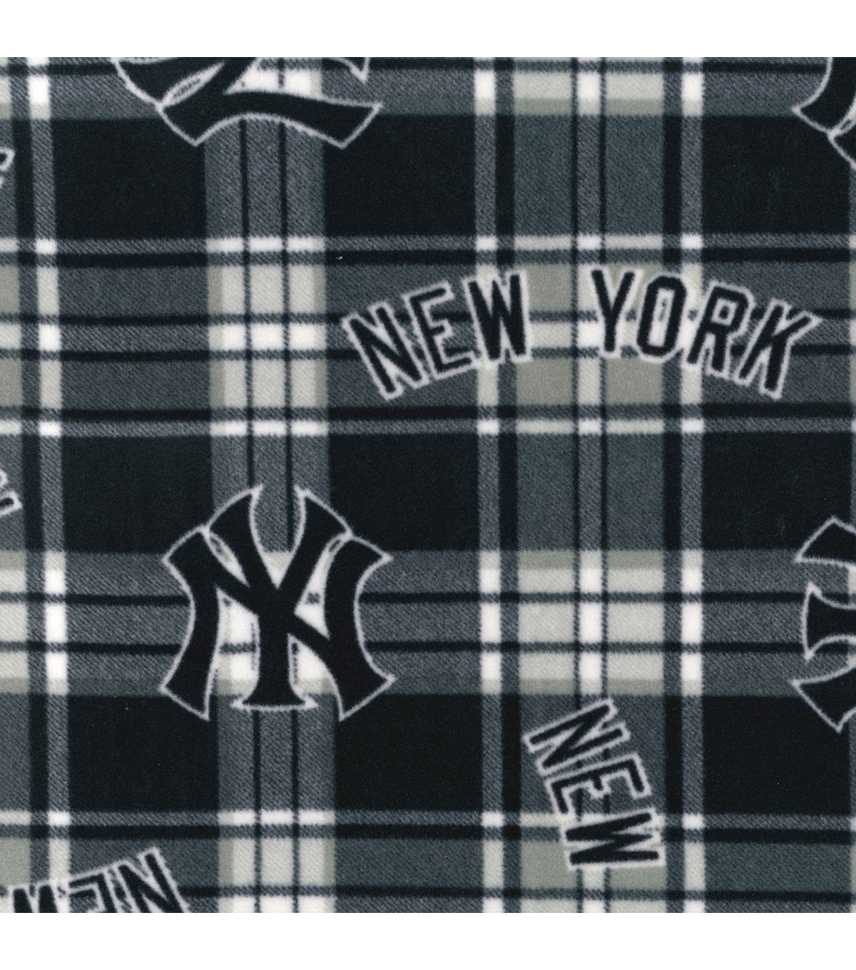 separation shoes 9e849 f1599 New York Yankees Fleece Fabric -Plaid