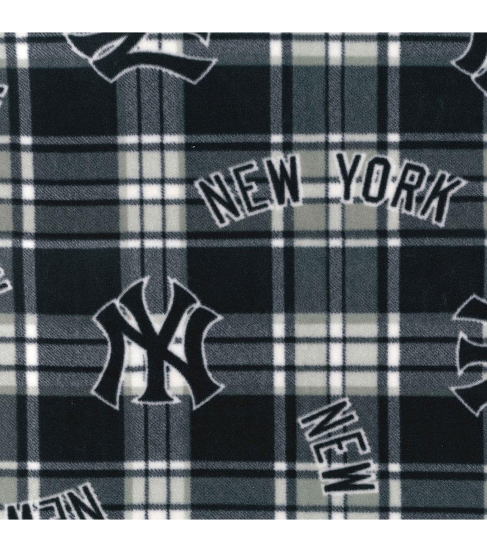 separation shoes 04426 77103 New York Yankees Fleece Fabric -Plaid