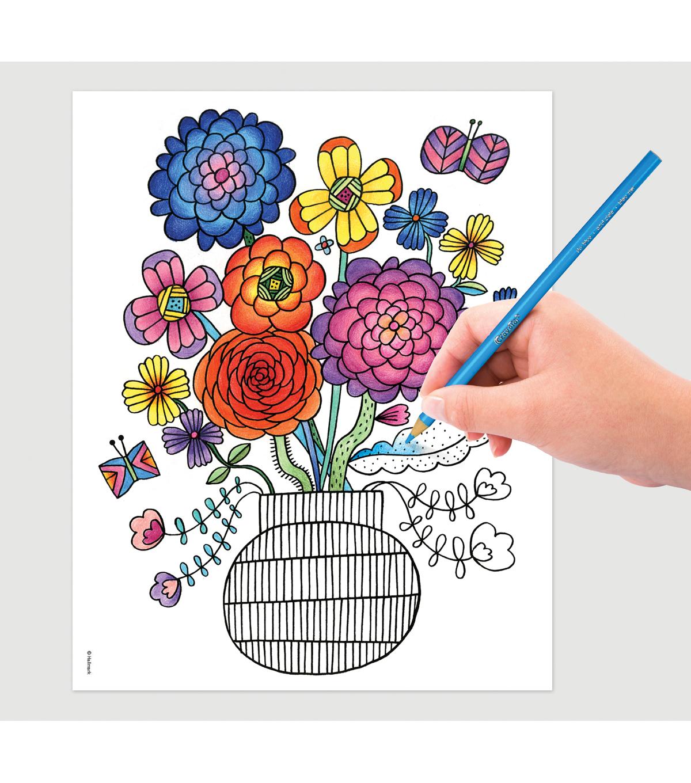Crayola Folk Art Escapes Coloring Book | JOANN