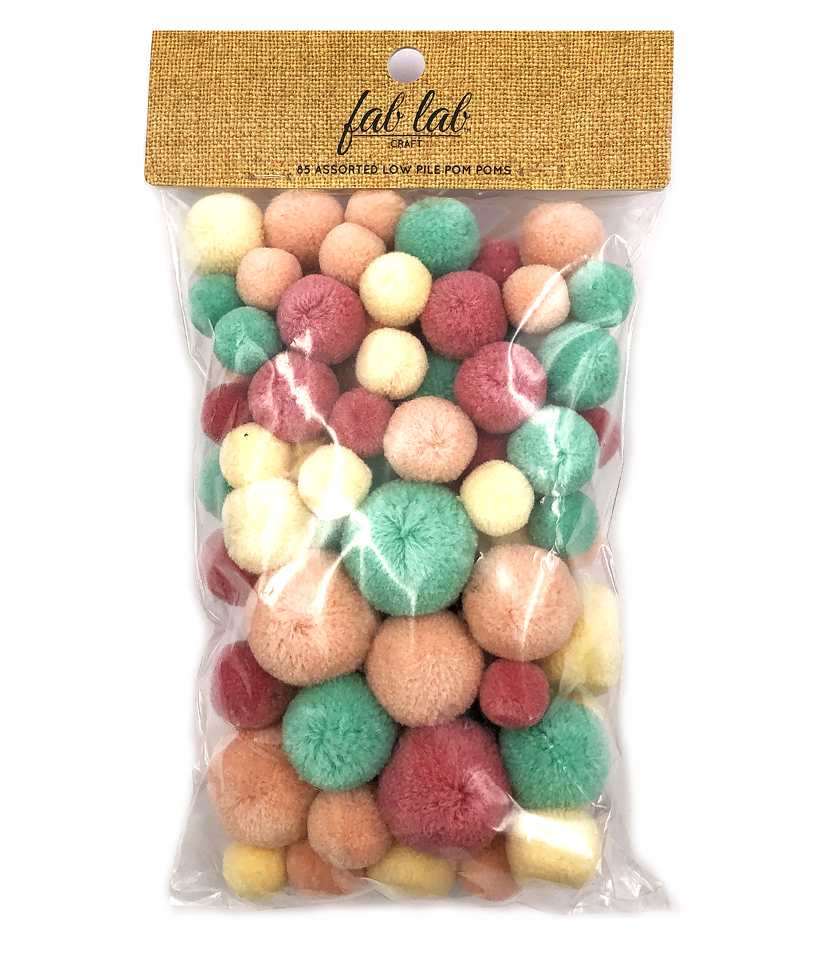 Fab Lab Craft 85 pk Assorted Low Pile Pom Poms