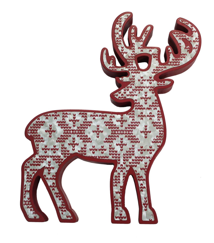 makeru0027s holiday christmas deer shaped decor fair isle