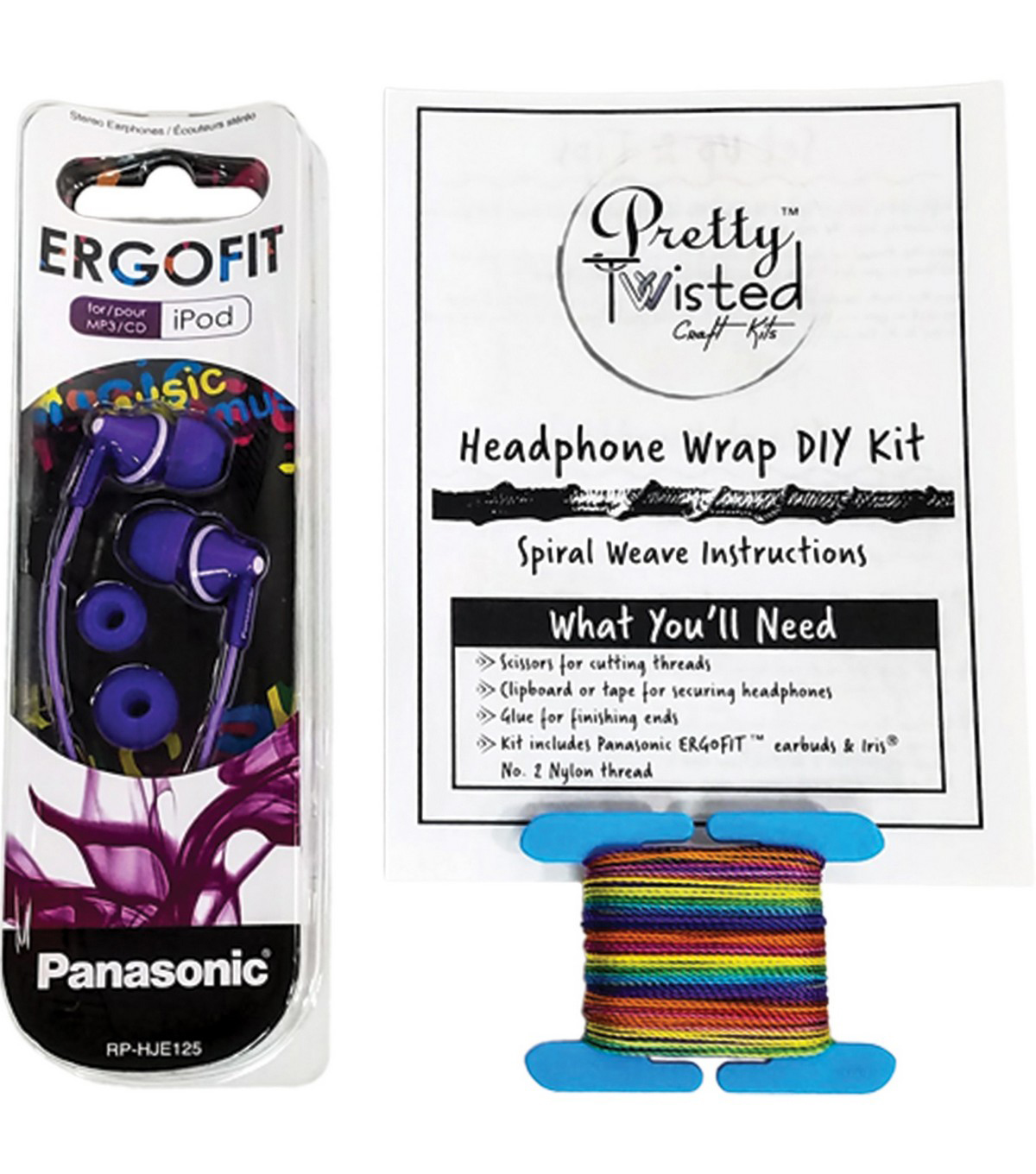 Pretty Twisted Headphone Wrap DIY Kit with Earphones-Electronic